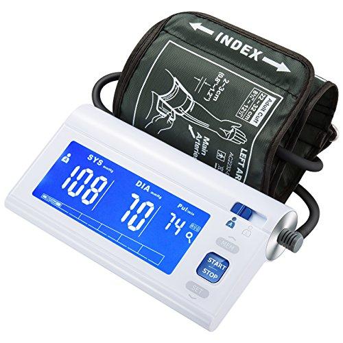 ATMOKO Blutdruckmessgerät Oberarm, Blutdruck Messgerät Blutdruckmesser, Großer Bildschirm Automatischer Oberarmmonitor mit Weitbereichsmanschette, MEMS-Drucksensor, Abnormaler Blutdruck & Irregulärer Herzschlagdetektor, CE-Zertifikat, für den Heimgebrauch und die medizinische Verwendung 22 Cm Computer-bildschirm