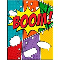 """BOOM: blank comic book for Creating Your Own Comics, With This Comic Notebook: Over 100 Pages Large Big 8.5"""" x 11"""" Cartoon / Comic Book With Lots of Templates (Blank Comic Books)"""