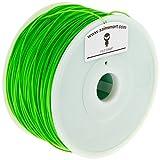SainSmart HIPS Filament für 3D-Drucker, Durchmesser 1,75 mm, Spool Kapazität 1 kg, Grün
