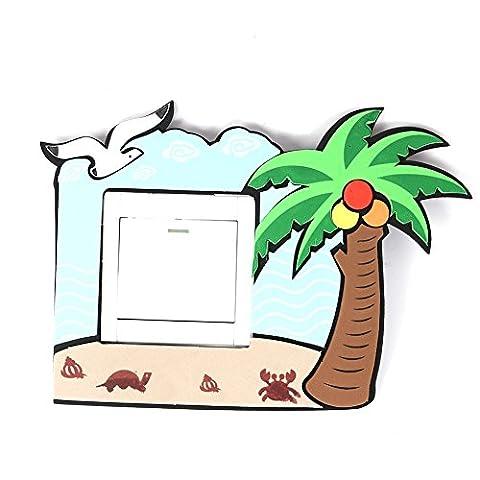 Neuankömmling! Mode Lustig Fluorescent Schalter Aufkleber Nützlich und Beautiful Home Decor Schalter-Aufkleber EVA Netter Home Switch-Wand-Aufkleber-Kunst Kinder (Großhandel Wand-aufkleber)