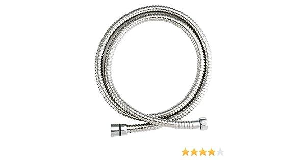 1//2/pollici x 2/m 1/pezzo Bath /& More Tubo flessibile per doccia di lusso in acciaio inox hochglanzverchromt 150012478