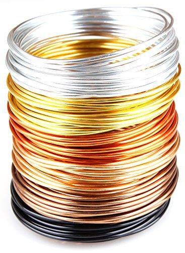Creacraft Alu Schmuckdraht-Set Golden Autumn - 6 Farben, 30m (5m je Farbe) (3 mm)