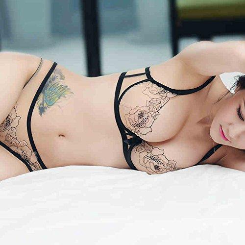 XUEQIN Französisch Unterwäsche Unterhose Set Weibliche Bh Spitze Net Garn Stickerei Sexy Transparent Ultra Thin Bra ( größe : 38C )