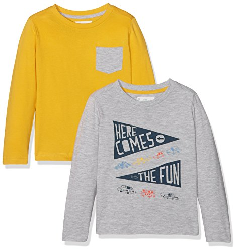 Mothercare Baby-Jungen T-Shirt Here Comes the Fun-2 Pack Mehrfarbig, 68
