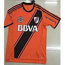 20162017Nueva Temporada Away Río de la plata Cartas de fútbol soccer Jersey Camisas en color naranja, hombre, naranja, large