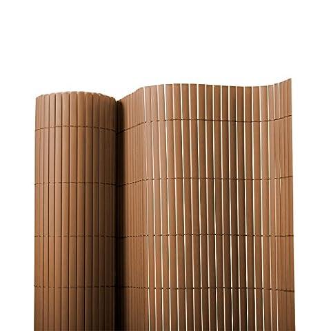 Sichtschutz Zaun für Außenbereich | braun | Größe wählbar (120x300cm)