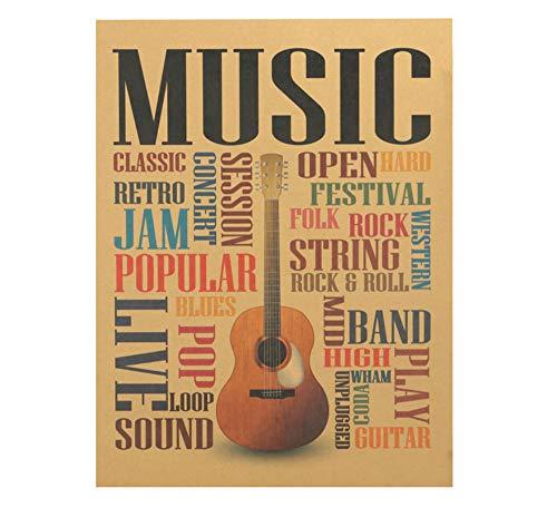 Suwhao Musik Gitarre B Mod Poster WohnkulturRock Wandaufkleber Für Schlafzimmer Wand Poster 47X36 Cm -