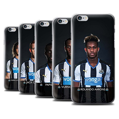 Officiel Newcastle United FC Coque / Etui pour Apple iPhone 6S / Pack 25pcs Design / NUFC Joueur Football 15/16 Collection Pack 25pcs