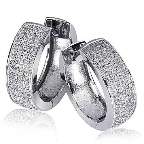Goldmaid Damen-Creolen 925 Sterling Silber - weiß Zirkonia