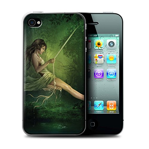 Officiel Elena Dudina Coque / Etui pour Apple iPhone 4/4S / Par le Vent Design / Un avec la Nature Collection Balançoire Étang