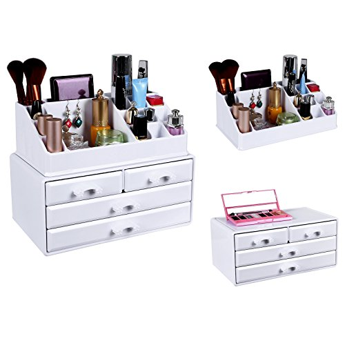 songmics kosmetik aufbewahrung organizer 4 schubladen acryl wei jka0010 smash. Black Bedroom Furniture Sets. Home Design Ideas