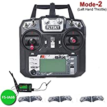 LITEBEE Flysky FS-i6X Transmisor 10 Canales AFHDS 2A RC Transmitter con Flysky iA6B Receptor for FPV Racing RC Drone Quadcopter ( Mode-2 Left Hand Throttle)