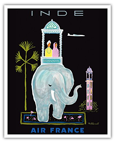 inde-india-air-france-indian-elephant-with-howdah-carriage-vintage-airline-travel-poster-by-bernard-