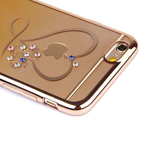 Apple iphone 6 Plus/6s Plus (5,5 pouces) Coque en Soft Silicone TPU Transparente, Ekakashop Créatif Dégradé de couleur Motif de Série Fleur Flexible Souple Gel Housse Etui Cas de Protection pour iphon Amour jaune dégradé