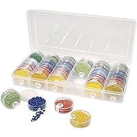Rayher 39215000 Perlen Sortier-/Multifunktionsbox, Aufbewahrung für bis zu 42 Perlendöschen, 26,7 cm x 12,2 cm x 4,7 cm