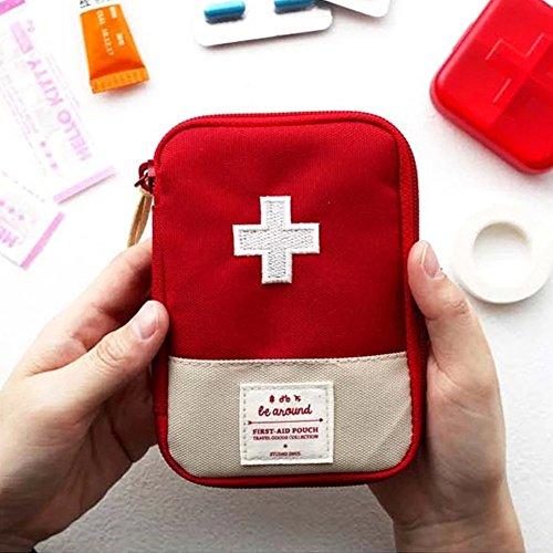 Tablettenbox Pillenbox Pillendose Mini Medical Bag Outdoor Reise Tragbar Erste Hilfe Kit, Drug Packing Bag