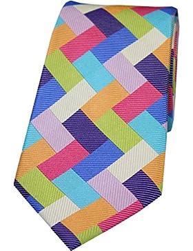 Rettangolo multicolore forma cravatte di seta di Posh and Dandy