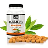 1 YEAR supply, Triple Strength Advanced Turmeric Curcumin & Black Pepper Piperine 1,410mg 365 x tablets, UK MADE from Cambridge Labs Ltd