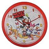 Disney Mickey Maus Wanduhr Kinder Uhr Kinderuhr für Kinderzimmer Dekoration Wanddeko