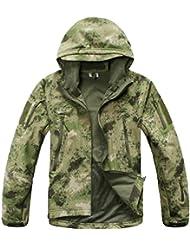 Reebow Gear Militaer Taktische Softshell Jacke outdoor Fleece Kapuzenjacke