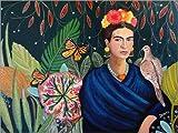 Posterlounge Leinwandbild 40 x 30 cm: Frida von Sylvie Demers - fertiges Wandbild, Bild auf Keilrahmen, Fertigbild auf Echter Leinwand, Leinwanddruck