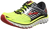 Brooks Men Glycerin 14 Running Shoes, Multicolor (Nighlife/Black/High Risk Red), 9 UK 44 EU