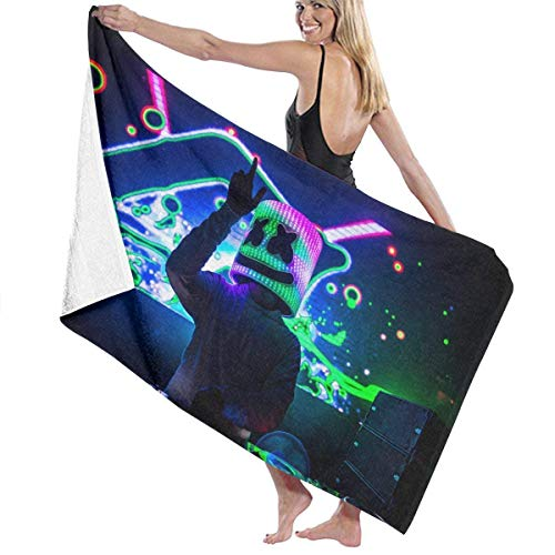 Duyhat M-arshmello Pool Beach Towel Luxury Microfiber Bath Towels Quick-Drying Towel Blanket for Travel Swim Pool Yoga Camping Gym Sport