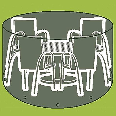Siena Garden fundas para Picnic mesa y sillas y tumbonas polietileno flat-weave tela diámetro 200x H 96cm,