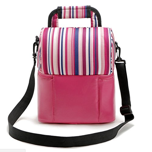 Zhhlaixing Colorato Fully Insulated Tote Thermal Lunch Bag/Cool Bag/Cooler/Lunch Box/Picnic Bag Rose Red