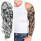 Autoadesivo del tatuaggio impermeabile Vaso di fiori a vela per uomo e donna