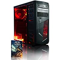 Vibox Standard 3 Gaming PC - with Warthunder Game Bundle (3.1GHz AMD A8 Quad Core Processor, Radeon R7 Graphics Chip, 1TB Hard Drive, 8GB RAM, AvP Mamba Red LED Case, No Operating System)