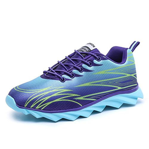 Men's Breathable Zapatos Hombre Athletic Running Shoes Light Blue