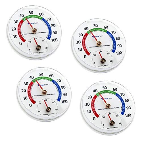 Lantelme 4 Stück Thermometer Hygrometer zur Überwachung von Temperatur und Luftfeuchte gegen Schimmelbildung