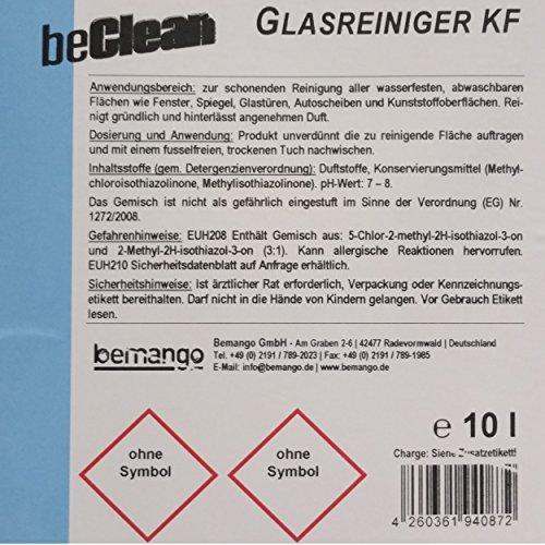 """Glasreiniger beClean """"clear"""" 10l Kanister mit einer Sprühflasche - 4"""