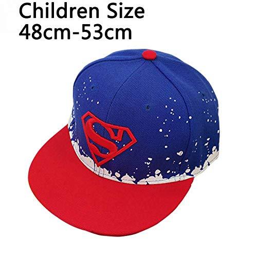 GONGFF Baseballmütze Cool! Baseballmütze Baby Superman Hut Erwachsene und Kinder Hut für Jungen Mütze Baby Hip Hop Hüte Unisex Sun Cap Persönlichkeit Hut (Farbe: Kinder Rot) (Baby-jungen Mitarbeiter)