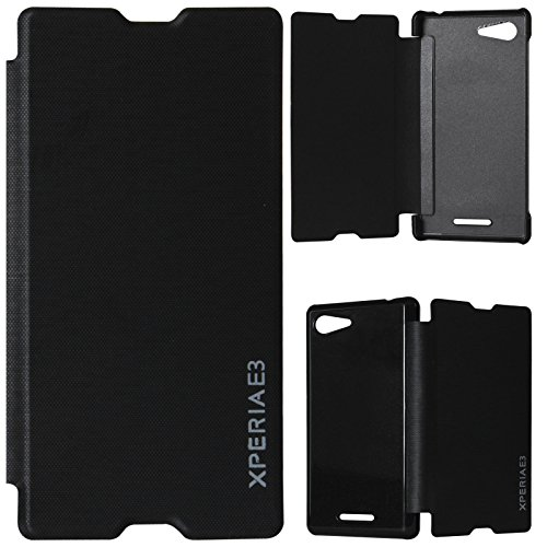 DMG PU Leather Flip Book Cover Case for Sony Xperia E3 - Black  available at amazon for Rs.199