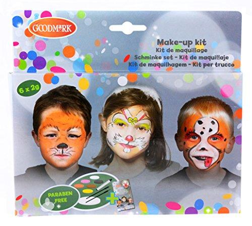Goodmark Aqua Face Paint Box Tiere, 1er Pack (1 x 11 (Für Kinderschminken Hund Kostüm)