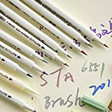 Butterme 10pcs Aquarelle Pinceau mis à base d'eau Marqueurs Marqueur Sign stylo Pour Croquis, peinture, calligraphie et à colorier