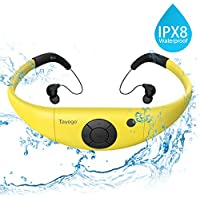 Tayogo Reproductor MP3Impermeable natación con de oído 8GB IPX8Hi-Fi bajo el Agua 3m Resistente al Calor 60 natación Carrera Marcha SPA y Otros Deportes acuáticos Amarillo