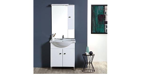 Pensili Da Bagno Economici : Mobile bagno 75 cm 2 ante e pensile in bianco lucido serie easy