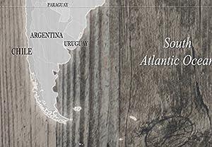 murando - Bilder 120x80 cm - Leinwandbilder - Fertig Aufgespannt - 1 Teilig - Wandbilder XXL - Kunstdrucke - Wandbild - Poster Weltkarte Welt Landkarte Kontinente k-C-0050-b-c