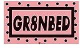 I Luv LTD Sticker GR8NBED Schwarz und Pink