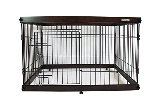 Simply Palace + L | Laufstall | Welpenlaufstall | Hundekäfig | Hundebox | Oben offen | Holz