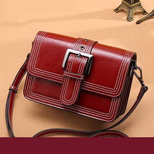Mifusanahorn Womens Satchel Hobo Top Griff Tote Leder Handtasche Schulter Geldbörse (Color : Red)