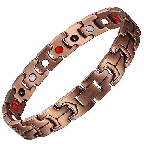 Preisvergleich Produktbild Herren Magnet Kupfer Armband,  4-in-1-Infrarot-Ionenarmband