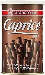 Caprice Wafers Rolls with Dark Chocolate Cream, 115g