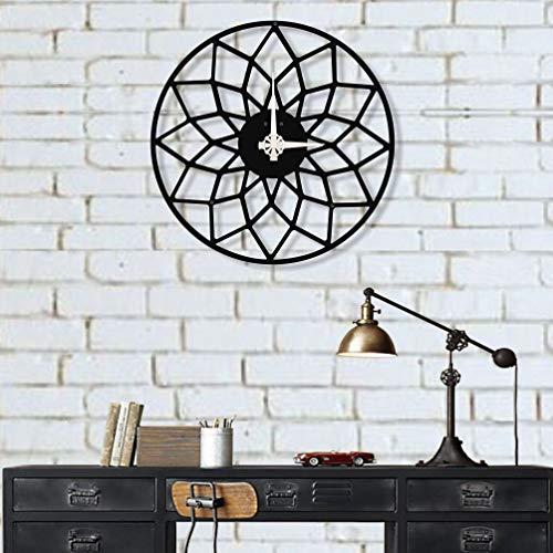 Dekadron Design unique Horloge murale en métal Magic 38x38cm noir