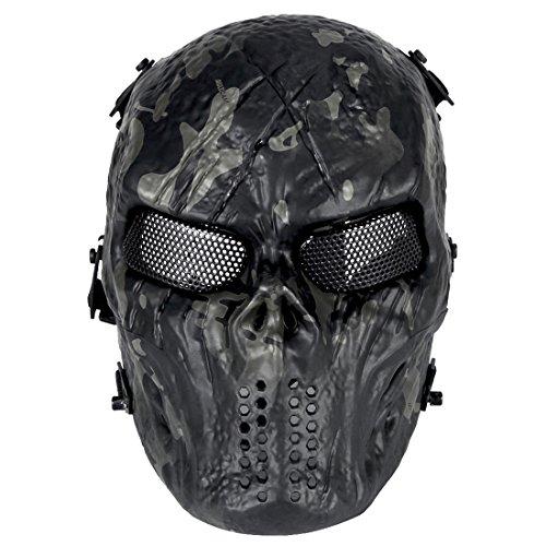 aske Motorrad - Schutzmaske für Motorrad /Cosplay/Halloween/CS Maske für Nerf Airsoft Paintball Kinder ()