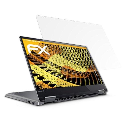 atFolix Panzerfolie kompatibel mit Lenovo Yoga 720 15 inch Schutzfolie, entspiegelnde & stoßdämpfende FX Folie (2X)