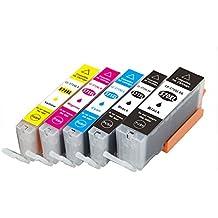 Caidi 5x Compatible Canon Pixma PGI-570 XL/CLI-571 cartucho de tinta Cartuchos de tinta sustituye for MG5750 MG5751 MG5752 MG5753 mg6850 mg6851 MG6852 MG6853 tintas de impresora